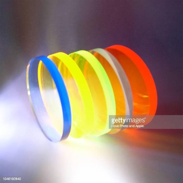 color image using acrylic disc - アクリル ストックフォトと画像