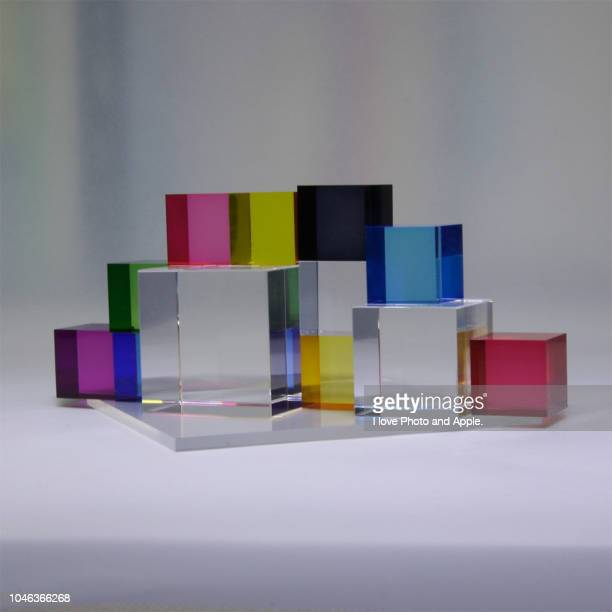 color image using acrylic material - アクリル ストックフォトと画像