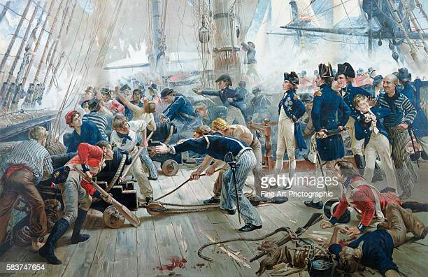 Color Lithograph by Orford Smith after The Hero of Trafalgar by William Heysham Overend