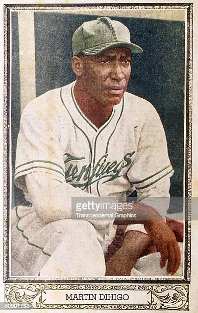 Color lithograph of Martfn Magdaleno Dihigo Llanos Cuban baseball great who palyed in baseball's Negro Leagues and Latin American leagues, Primarily...
