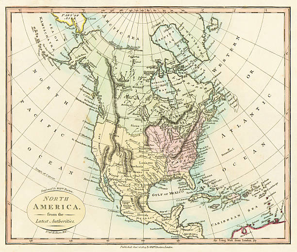 Color Map Of North America.Map Of North America Pictures Getty Images