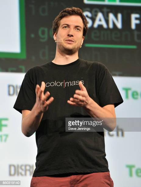 Color Mass CoFounder and CEO Balint Barlai participates in the Startup Battlefield finals during TechCrunch Disrupt SF 2017 at Pier 48 on September...