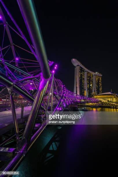 color of singapore - marina bay sands skypark stock pictures, royalty-free photos & images