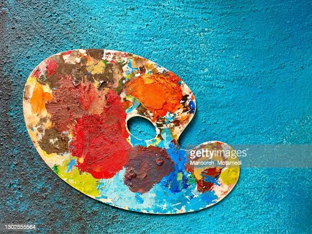 color palette - drawing art product stock pictures, royalty-free photos & images