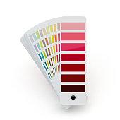 Color palette, white background