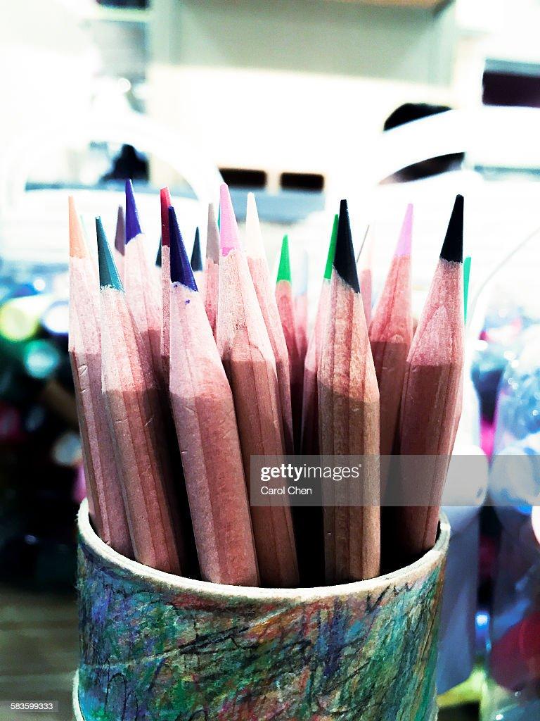 Color pencil pen : Stock Photo