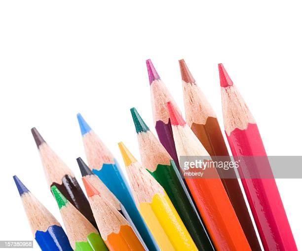 Farbe Stifte, isoliert auf weißem Hintergrund