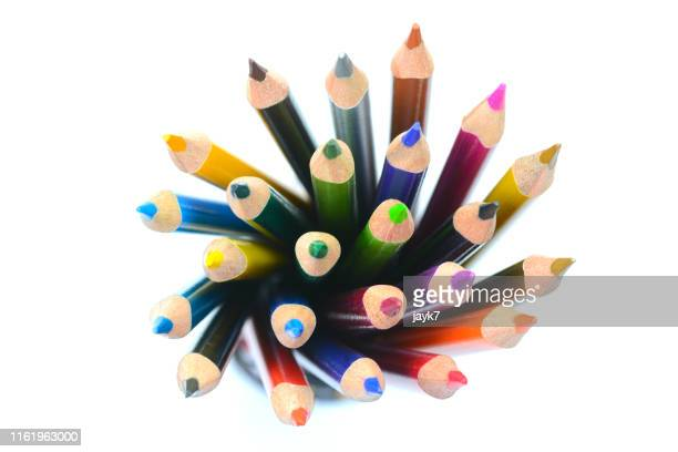color pencils - schulbedarf stock-fotos und bilder