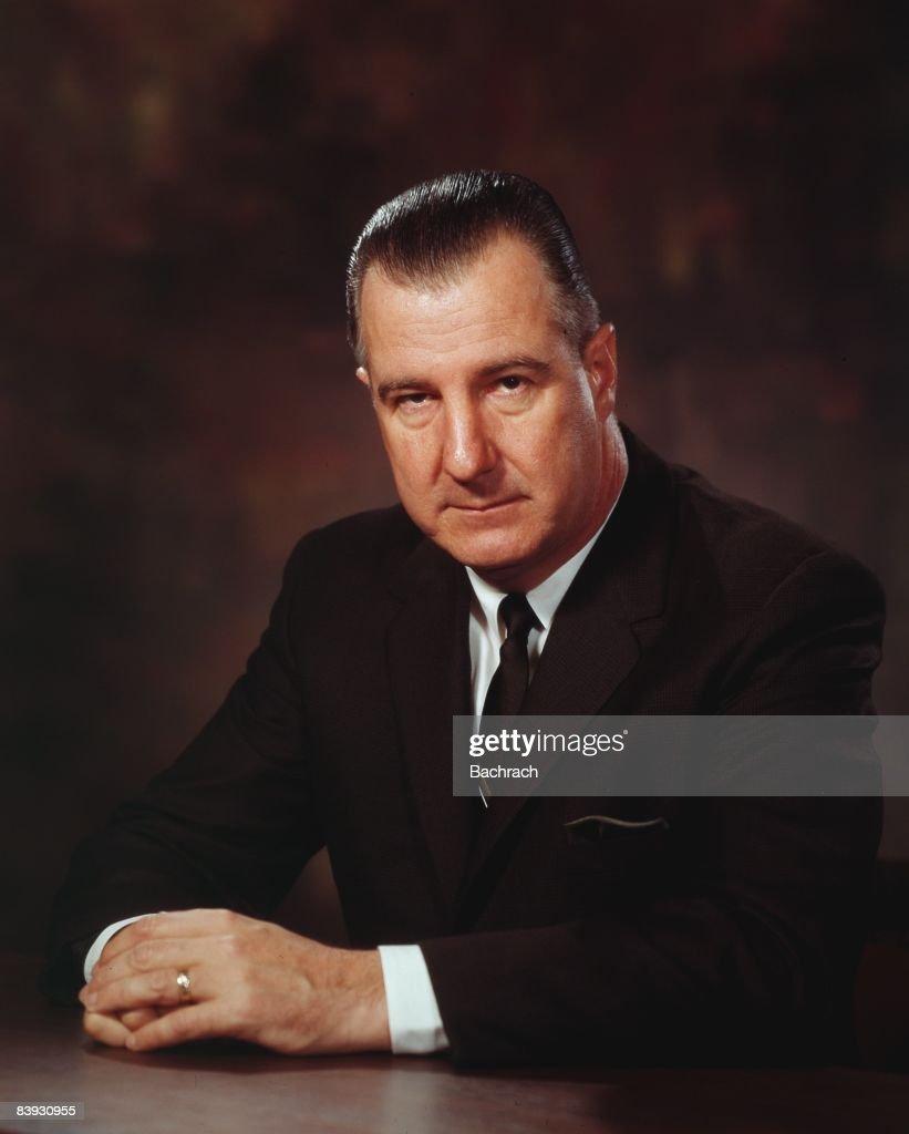 Portrait of Spiro Agnew : News Photo