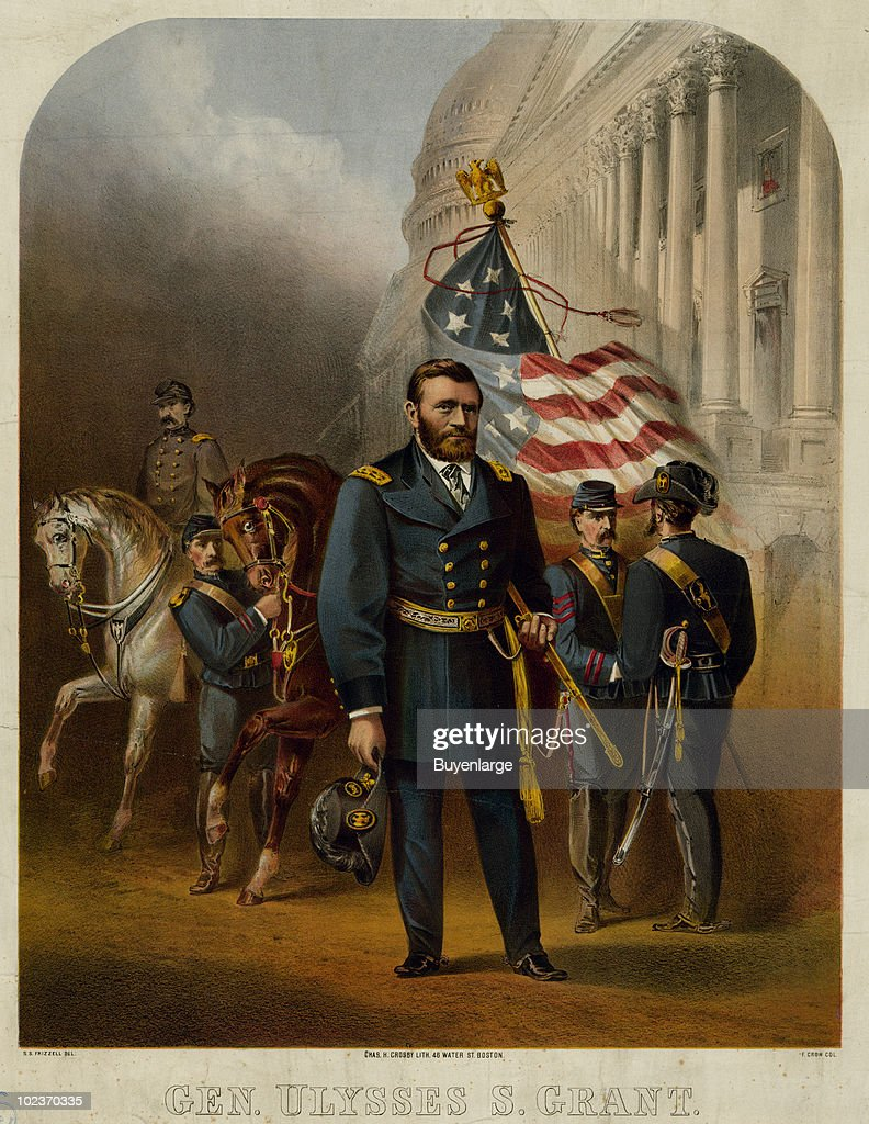 Ulysses s grant pictures getty images color portrait of ulysses grant 1822 1885 us president and general of publicscrutiny Images