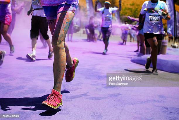 5K Color Run, competitors runnning through dye.