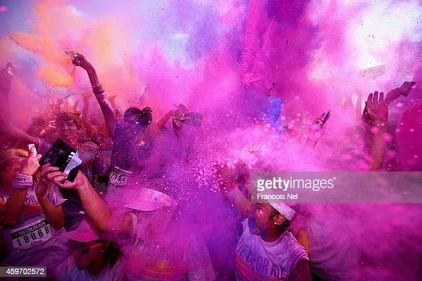 Color Runners take part in the 'Happiest 5k on the Planet' turning Dubai Autodrome into a giant rainbow The Color Run presented by Daman's ActiveLife...