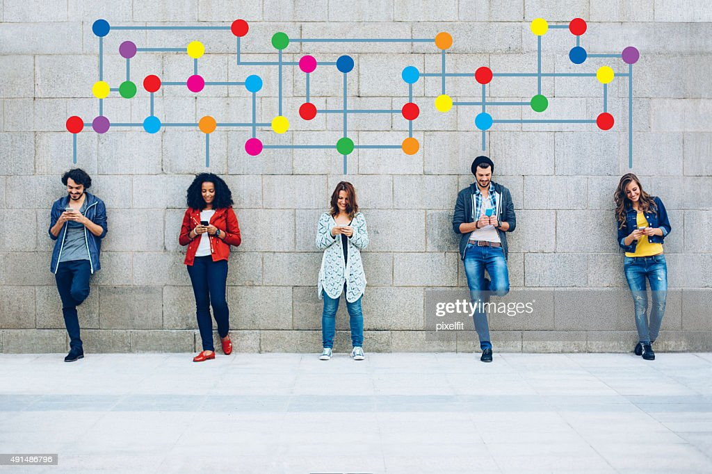 Color Social Networking : Stock Photo