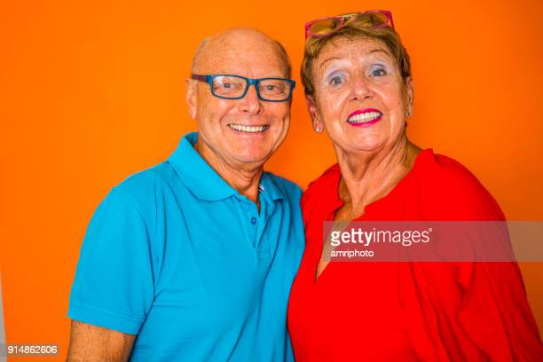 color surge for stylish seniors happy smiling 70 years old senior