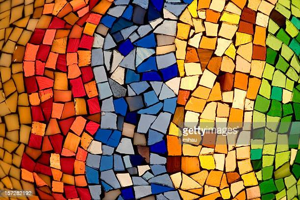 color tiles mosaic - mosaic stock pictures, royalty-free photos & images