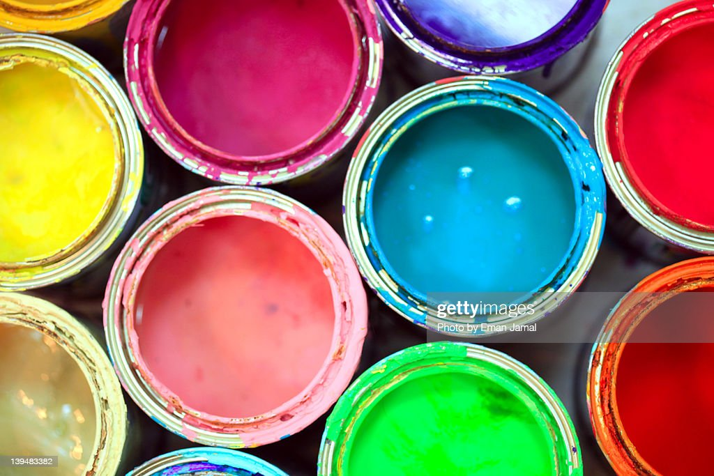 Color tins : Stock Photo