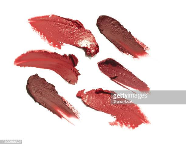 "color trend lipstick samples - ""shana novak"" stock pictures, royalty-free photos & images"