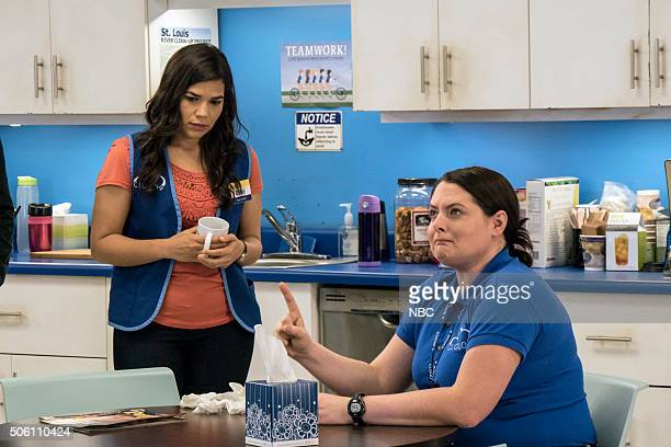 SUPERSTORE 'Color Wars' Episode 107 Pictured America Ferrera as Amy Lauren Ash as Dina