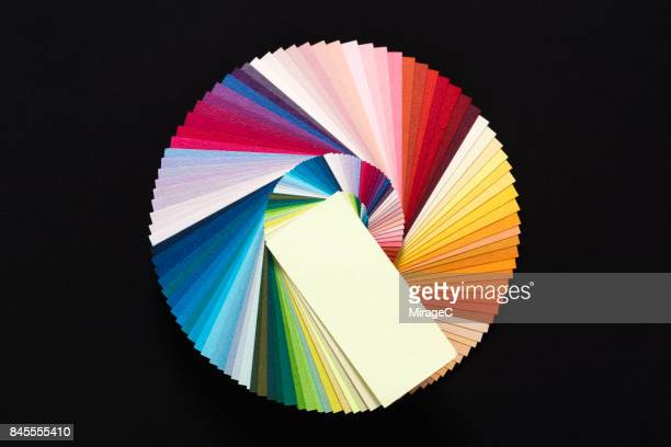 Color Wheel Made of Paper Cards