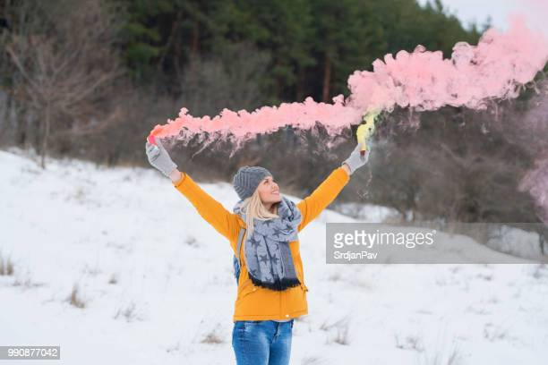 color your winter! - shawl stock photos and pictures