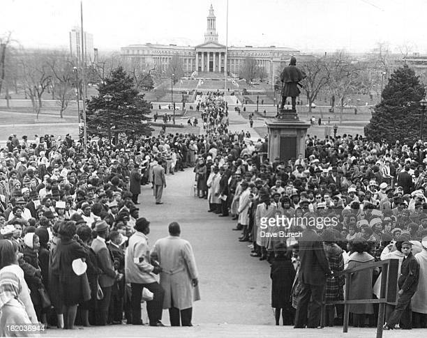 MAR 13 1965 MAR 15 1965 Coloradans Mass at the State Capitol for Demonstration in support of Selma Ala Negroes Marchers are still arriving at the...
