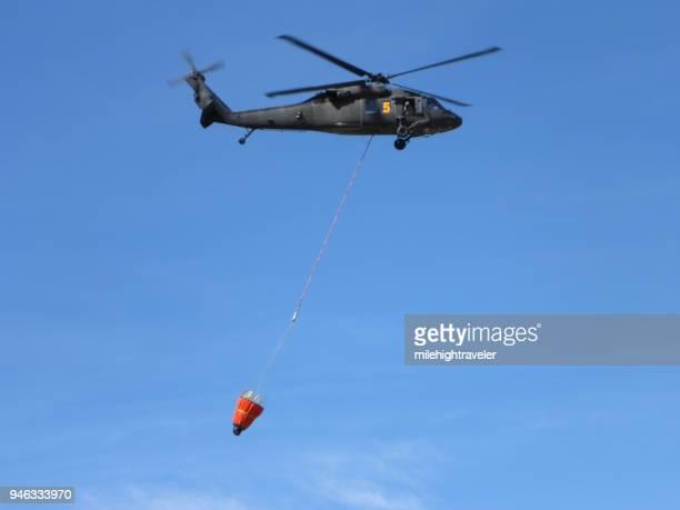 Colorado Army National Guard firefighter training Black Hawk helicopter Bear Creek Lake Park Colorado