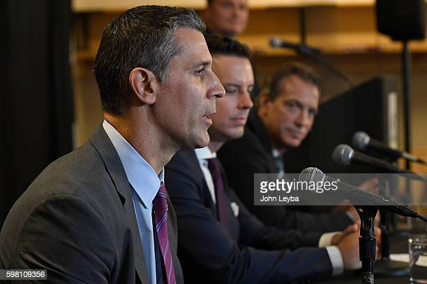 Colorado Avalanche announce new head coach Jared Bednar at a press conference August 31 2016 Pepsi Center