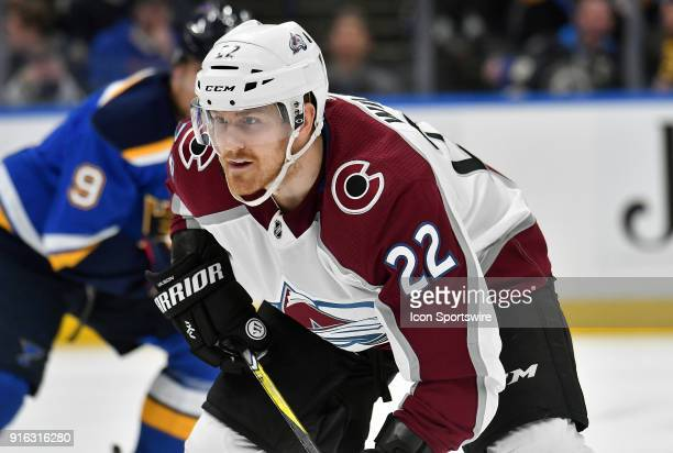 Colorado Avalanche center Colin Wilson during a NHL game between the Colorado Avalanche and the St Louis Blues on February 08 at Scottrade Center St...