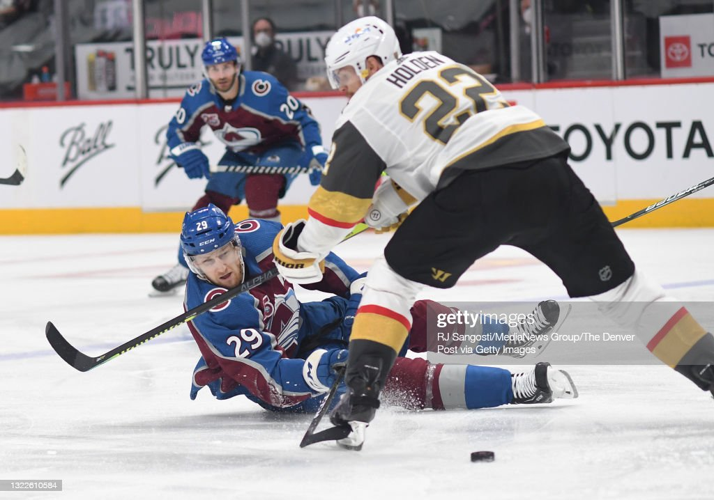 Colorado Avalanche and Vegas Golden Knights in second round of the Stanley Cup Playoffs : News Photo