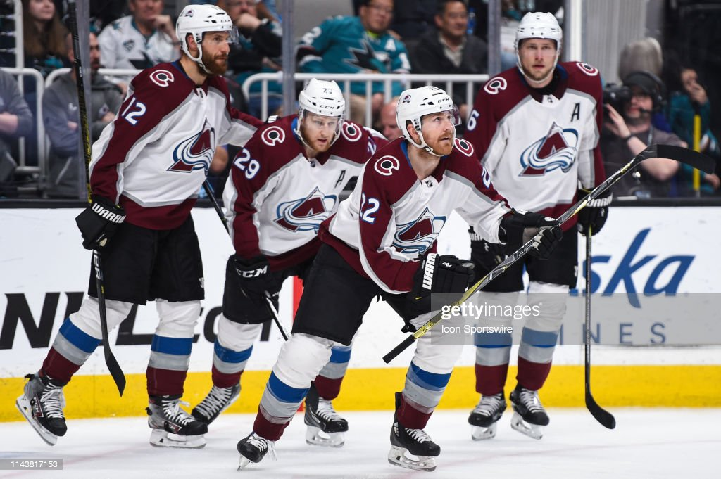 NHL: MAY 08 Stanley Cup Playoffs Second Round - Avalanche at Sharks : News Photo