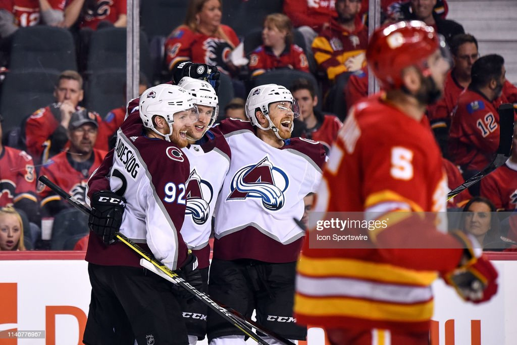 NHL: APR 19 Stanley Cup Playoffs First Round - Avalanche at Flames : News Photo