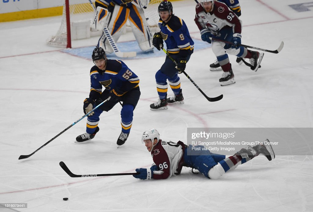 St. Louis Blues and Colorado Avalanche in  Game 3 of their first-round series : News Photo