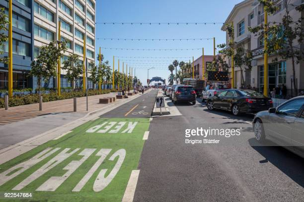 Colorado avenue in Santa Monica, California, USA