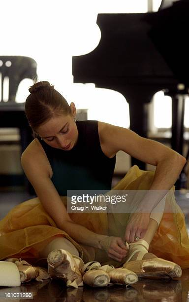 Colorado Ballet Principal Sharon <cq> Wehner <cq> dancing the part of Kitri <cq> and Soloist Chauncey <cq> Parsons <cq> dancing the part of Basilio...