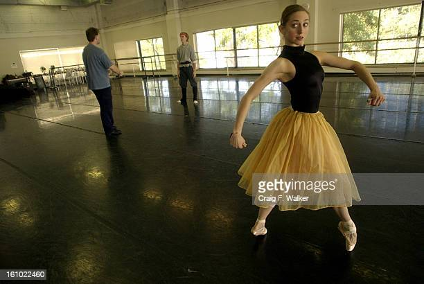 Colorado Ballet Principal Sharon <cq> Wehner <cq> right dancing the part of Kitri <cq> and Soloist Chauncey <cq> Parsons <cq> center dancing the part...