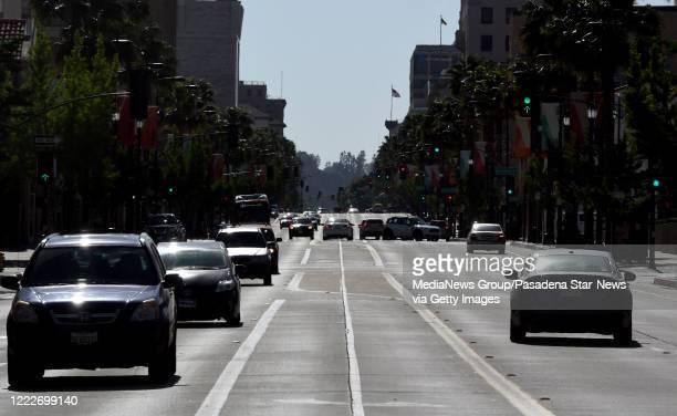 Colorado blvd looking West in Pasadena on Saturday, May 2, 2020.