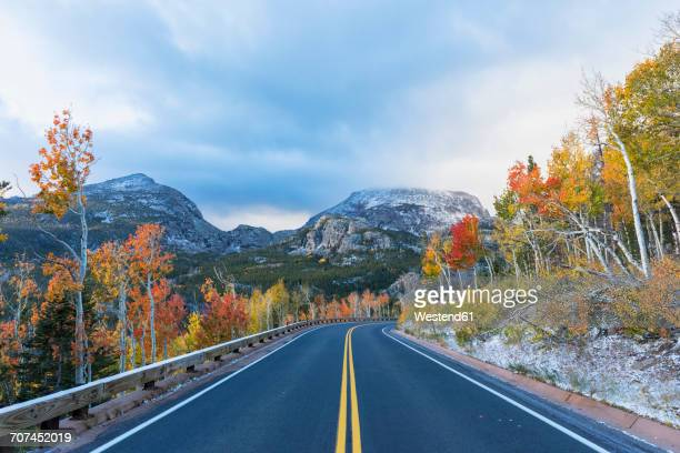 USA, Colorado, Boulder, Colorado, Rocky Mountain National Park, Bear Lake Road, Indian Summer