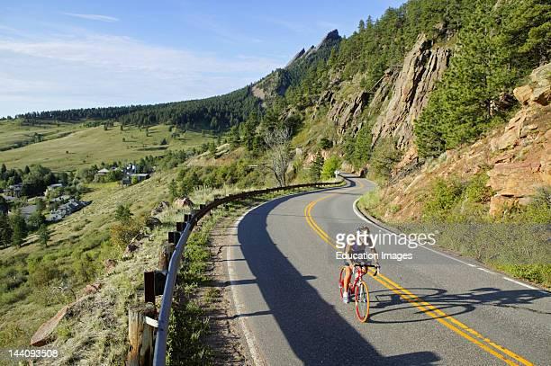 Colorado Boulder Flagstaff Mountain Female Cyclist