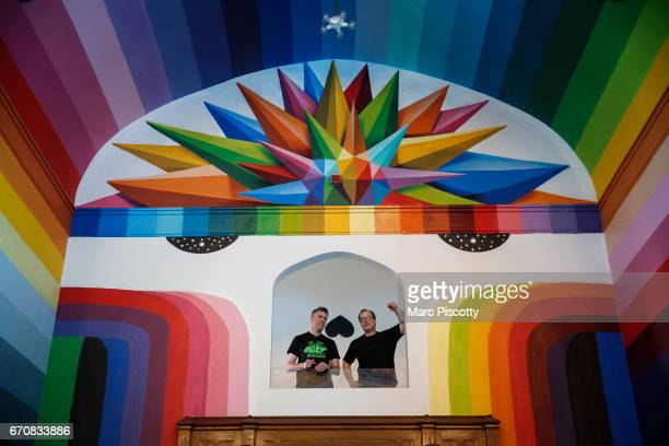 Colorado Cannabis Company and Pure Marijuana Dispensary coowners Frank Quattrone and Ethan Borg both of Denver Colorado look out over the cathedral...