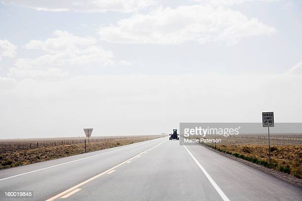 USA, Colorado, Car on open rural highway