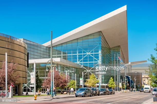 colorado convention center in downtown denver usa - convention center stock pictures, royalty-free photos & images
