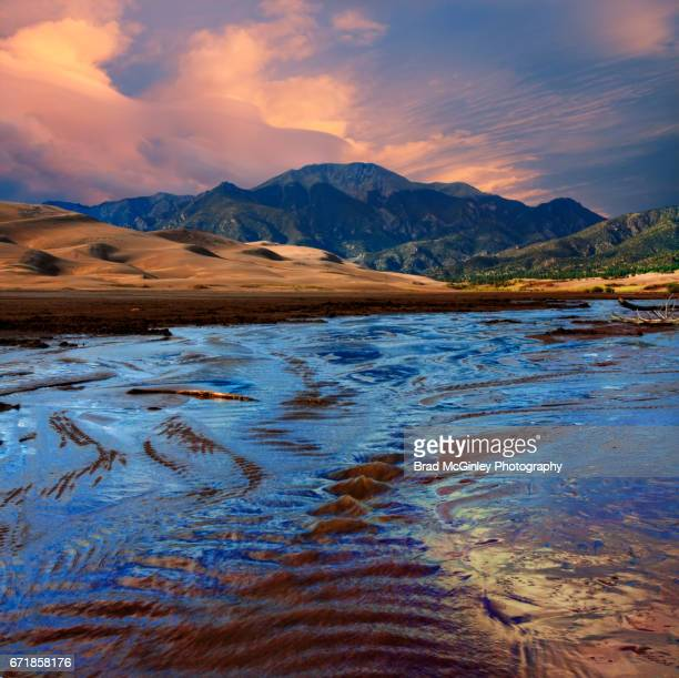 colorado dunes - great sand dunes national park stock pictures, royalty-free photos & images