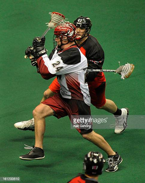 """Colorado forward John Grant Jr. Scored his sixth goal of the night with this shot for a """"sock trick"""" in the second half. The Colorado Mammoth hosted..."""