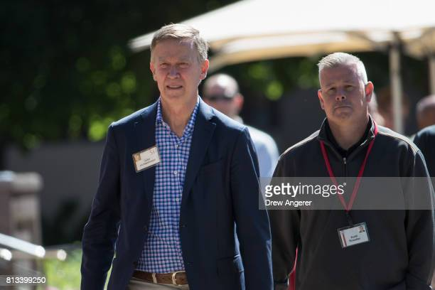 Colorado governor John Hickenlooper attends the second day of the annual Allen Company Sun Valley Conference July 12 2017 in Sun Valley Idaho Every...