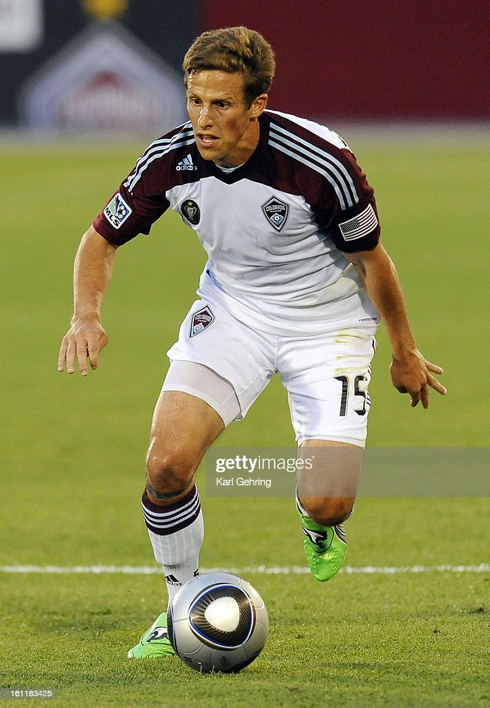 Colorado midfielder Wells Thompson advanced the ball in the first half Saturday night. The Colorado Rapids played to a 2-2 tie with Chivas USA in a MLS soccer game at Dick's Sporting Goods Stadium in Commerce City, Saturday night, August 20, 2011. Karl Ge : News Photo