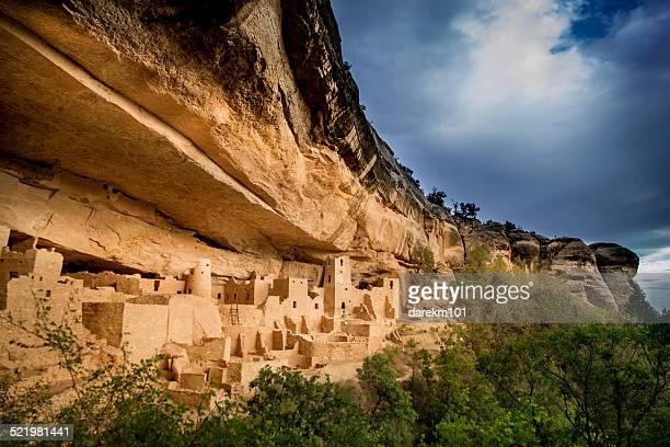 usa, colorado, montezuma, palace and mesa verde national park - mesa verde national park stock pictures, royalty-free photos & images