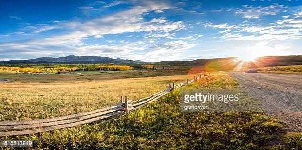Colorado Mountain Ranch in den Herbst
