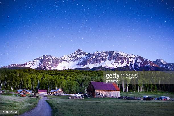 colorado mountain ranch - mt wilson colorado stock photos and pictures