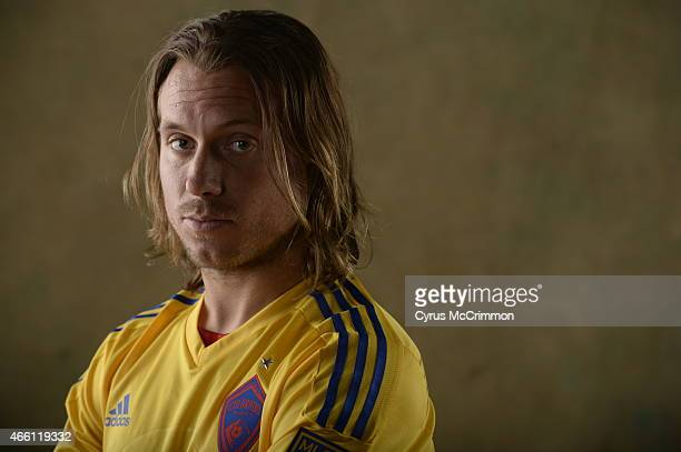 Colorado Rapid Michael Harrington at Picture Day for the Rapids on Wednesday March 4 2015 at The Pepsi Center in Denver