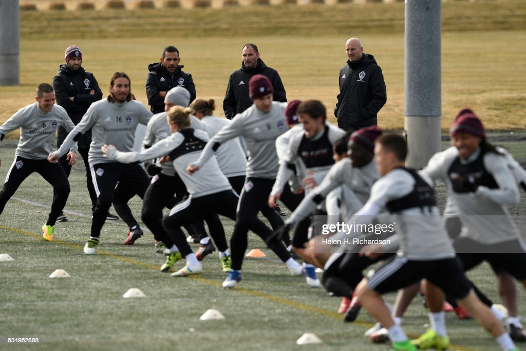 Colorado Rapids soccer practice at Dick's Sporting Goods Park in Commmerce City, Colorado. : News Photo